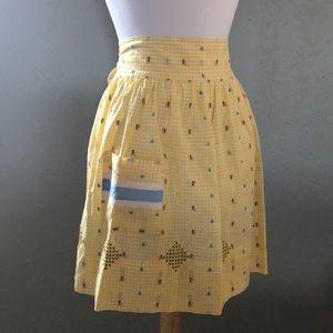 1960s / 1970s Vintage pocket waist apron